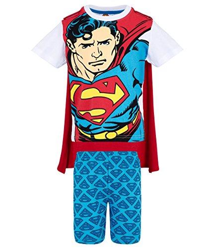 Superman Jungen Shorty-Pyjama - weiß - 116