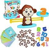 Aiduy Monkey Balance Juego de Matemáticas Contando Juguetes, Juegos de Matemáticas Geniales Regalo Educativo para Niños Juguetes Stem para Mayores de 3 años Niños Niñas