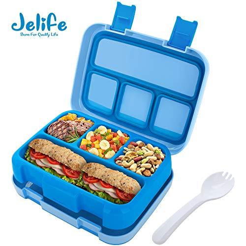 Jelife Fiambrera para Niños Lunchbox con 5 Compartimentos Caja Bento