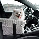 Falalahi Dog Console Car Seat, Dog Cat Booster Seat On Car Armrest, Travel Car Carrier Bed for Cat and Small Dog, Suitable for A Flip-top Armrest Box
