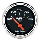 AUTO METER 1436 Designer Black Water Temperature Gauge, Water Temperature - 2 1/16'''
