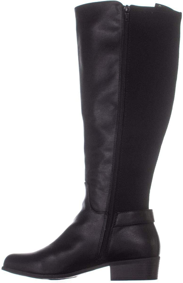 Alfani Womens Kallumm Fabric Round Toe Mid-Calf Fashion Boots