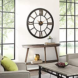 FirsTime & Co. Big Time Wall Clock, 40, Oil Rubbed Bronze Plastic