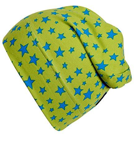 EveryHead Fiebig Gorro De Niños Jersey Beanie Verano Tapa Sombrero Del Bebé Dos Colores Con Estrellitas Para (FI-87280-S17-JU4-34-53/55) incl Hutfibel