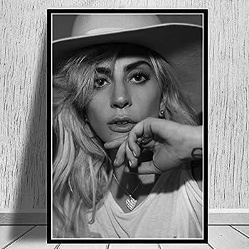 Unbekannt MFMing Poster druckt Lady Gaga Poster Star Musik S/änger Leinwand /Ölgem/älde Wandbilder f/ür Wohnzimmer Home Decor-59x84cm ohne Rahmen