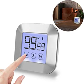 Premium Kitchen Timer Digital Count Down/Count Up Timer with Large Display Loud Alarm Backlight Magnetic Back