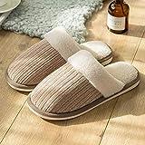 Cxypeng Zapatillas de casa Mujer,Zapatillas de Felpa de algodón de Suela Gruesa para Mujer, Zapatos de Piso antideslizantes-41-42_Brown,Cómodas Pantuflas Invierno Antideslizante