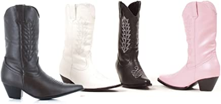 Ellie Womens Girls Pink Cowgirl Boots Medium