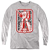 Transformers Kids Long Sleeve Red & White Optimus Prime Heather, XL