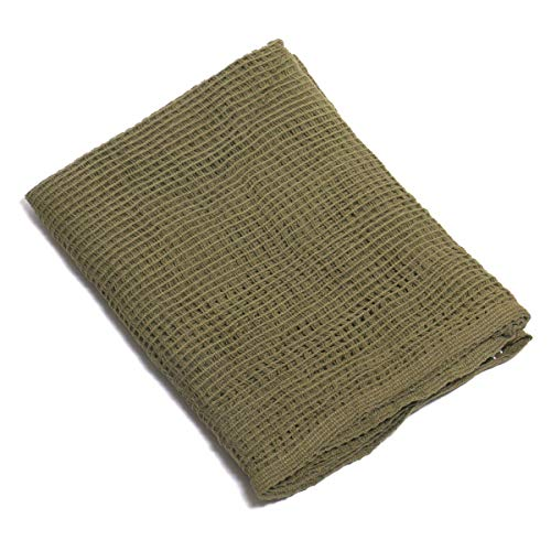 Arcturus Sniper Veil | Tactical Scarf to Camouflage Your Neck, Face & Head | 100% Cotton - 48' x 40' (Olive Drab)