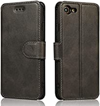 QLTYPRI iPhone 6 iPhone 6S Case Premium PU Leather Simple Wallet Case TPU Bumper [Card Slots] [Kickstand] [Magnetic Closure] Shockproof Flip Cover for Apple iPhone 6 iPhone 6S - Black