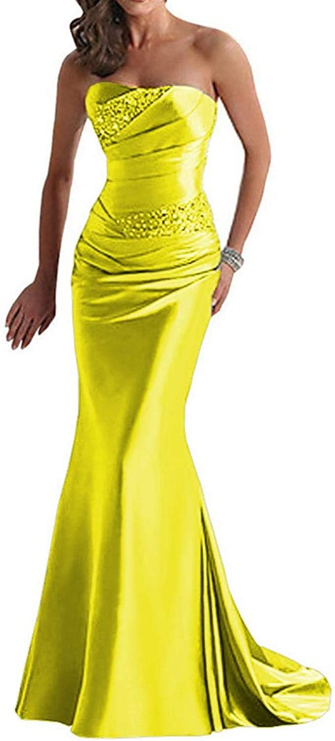 Lily Wedding Womens Sexy Sweetheart Mermaid Evening Dresses Long Satin Formal Prom Gowns GP06