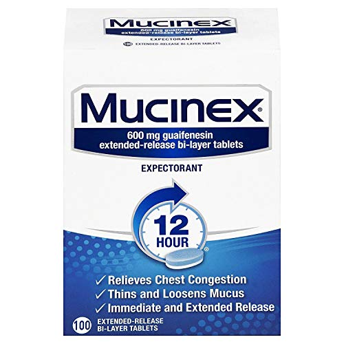 Chest Congestion, Mucinex Expectorant 12 Hour Extended Release...