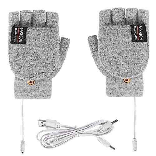 Xinapy USB-Beheizte Handschuhe Unisex-Strick-Beheizte Laptop-Handschuhe mit Voll- Und Halbfinger-Handschuhen Wärmer für Drinnen Oder Draußen