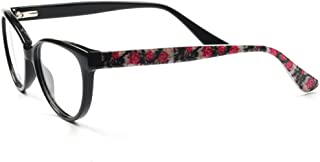 YOUTOP Patterned Style Acetate Round Butterfly Shaped Eyeglasses Frames