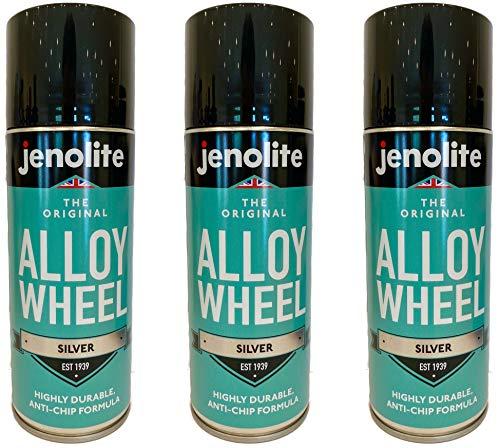 JENOLITE 3 x Alloy Wheel Paint - Silver - Refurbish & Restore Car Alloys - Corrosion & Stone Chip...