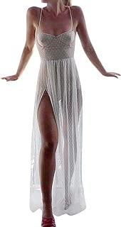 Top Bee Womens Mesh Dress,Sundress Crochet Bikini Cover Up Sarongs Backless Strappy Summer Beach Dress