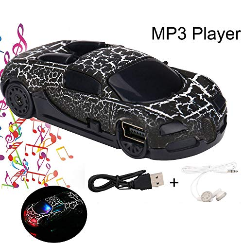 Kariwell Super Amazing Cool Car MP3 Player - USB Mini MP3 Player Support 32GB Micro SD TF Card + Earphone Best Gift for Boys Teens