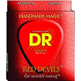 DR Strings Red Devils - Red Coated Acoustic12-54