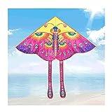 ZANZAN Kite de Mariposa con Cola para niños y Adultos, una Enorme Cometa con 5 especificaciones de Cadena de Cometas, Juegos al Aire Libre/Activitie-Pink (Color : 300M)