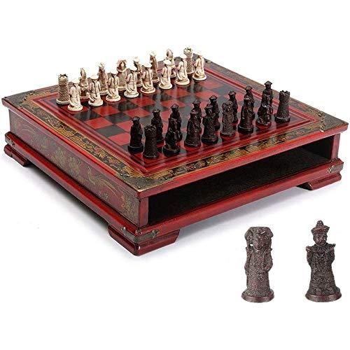 LMDH Juegos de ajedrez de Madera 32pcs Mesa de ajedrez Chino