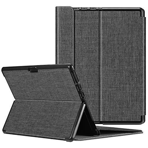 FINTIE Custodia per Microsoft Surface PRO X (2020/2019) - Multi-angli Hard Shell Business Cover, Compatibile con Tastiera Type Cover per 13 Pollici Surface PRO X, Denim Charcoal