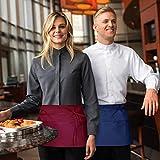 Viedouce Vorbinder Taillen Schürze, Kellnerschürze Kochschürze Backschürze mit 3 Taschen für Frauen Männer Restaurant Server Chef Kellnerin Kellner Barista, Rot (3 Pack) - 7