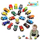 Tisy TOY Gifts for 3-6 Year Old Boys Kids, Car Toys for 2-6 Year Old Boys Girls Stocking Fillers Gifts Toys for Kids Age 2-6 Pull Back Vehicles Car Set for Kids Christmas Xmas Easter Gifts 20pcs
