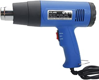 1500W 110V Dual-Temperature Heat Gun with 4pcs Stainless Steel Concentrator Tips Blue Heat Gun