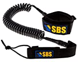 Santa Barbara Surfing SBS 10' Coiled SUP Leash - Guaranteed for Life - Ultra Premium 10 ft Paddleboard Leash