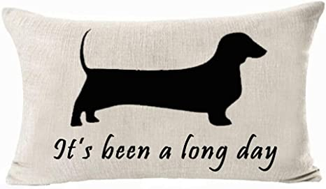 "Weiner Dog Dachshund Throw Pillow Cases 18/""x18/"" Cushion Covers Home Decor"