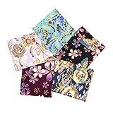 F Fityle 5er/Pack Japanische Stil Baumwolle Stoffe