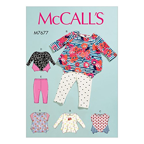 Mccall's Patronen Baby's Tops en Leggings, Tissue, Multi-Colour, 17 x 0.5 x 0.07 cm