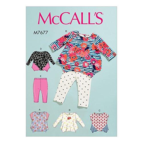 Mccall's Patronen Baby's Tops en Leggings, Tissue, Multi-Colour, 17 x 0.5 x 0.07 cm