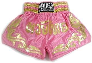 キックパンツ ムエタイショーツ COBRA Muay Thai Shorts cl-14 PINK/GOLD