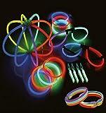 MIK funshopping 46-teiliges Knicklichter Party-Set Multicolor, variabel steckbar -