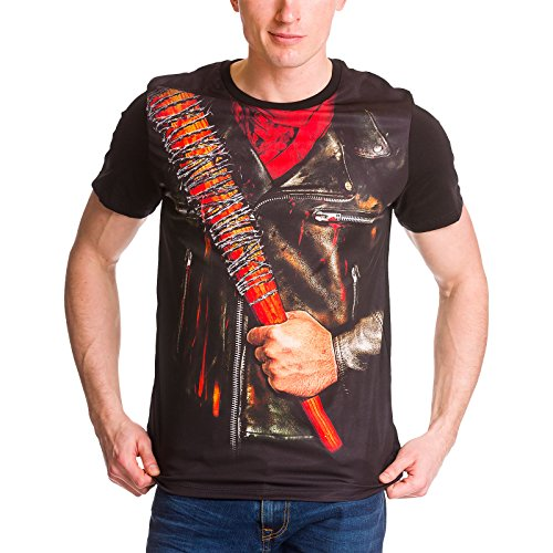 Walking Dead Camiseta de Caballero Negan Negro de algodón - S