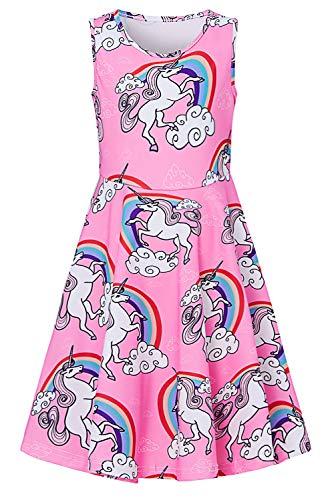 chicolife niño niños niñas Largo Vestido de Color Rosa para el Desgaste Diario Causal Escuela 11-13T