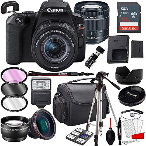 Canon EOS Rebel SL3 DSLR Camera with 18-55mm f/4-5.6 is STM Zoom Lens, 32GB Memory,Case, Tripod and A Complete Accessory Bundle