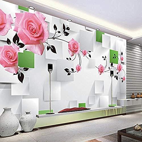 Mural 3D Etiqueta de la pared Sala de estar TV Fondo Pintura de la pared Mural grande Papel tapiz 3D Pared Pintado Papel tapiz 3D Decoración dormitorio Fotomural sala sofá pared mural-250cm×170cm
