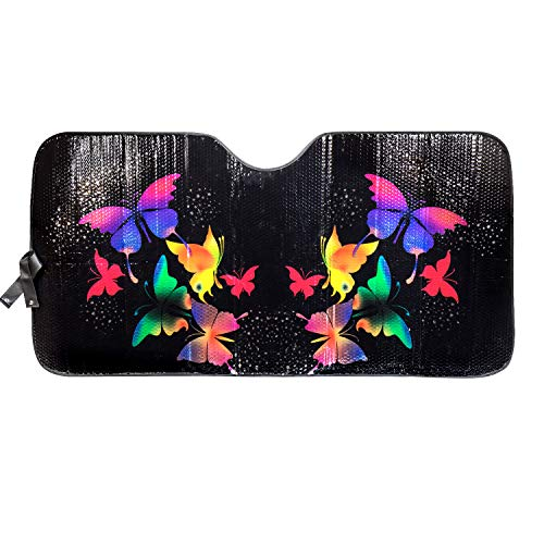 LUNNA SWR-0216 Gloss Sunshade (Special Edition Butterfly Swarovski Crystal Embellished Accordion -...