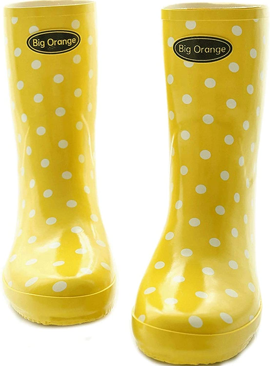 DUANGUOYAN Rain boots- Ms. Garden Rain shoes Female Adult In The Boots Rubber Boots Rain Boots Water shoes (color   Yellow, Size   39)