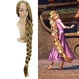 Rapunzel princesa enredada 110cm 43.34'peluca larga y recta peluca cosplay para mujeres niñas fiesta de disfraces de anime peluca sintética rubiaprincesa de disney