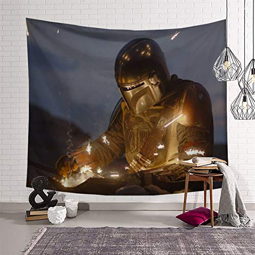 Tapiz para colgar en la pared, diseño de Star Wars El niño mandaloriano temporada 2 regalos para niños para decoración de habitación (130 x 150 cm)