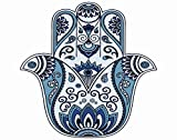 Ghjxda 5D DIY Diamond Painting Kits Paisley Painting Arts Craft Color Hamsa Symbol Oriental Style Henna Drawings Ancient'Hand Fatima' Painting by Numbers for Adults Canvas Full Drill 16x20 Inch
