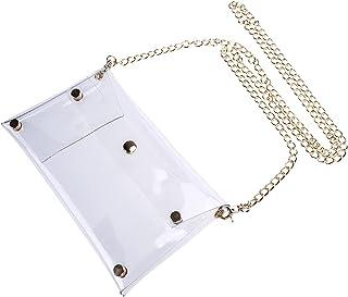 VALICLUD Bunte PVC Schulter Tasche Chic Handtasche Geldbörse Geschenke für Frauen Unter 25 (Rosy)