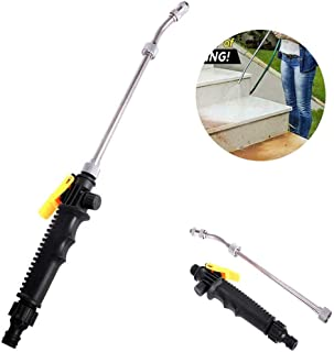 2-in-1 High Pressure Washer 2.0 High Impact Washing Wand Extendable Power Washing Wand Detachable Water Hose Nozzle for Car Home Garden Cleaning Tool Water Jet Sprayers