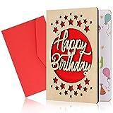 Biglietti D'Auguri In Legno, Biglietti D'Auguri In Legno, Biglietti D'Auguri Fatti A Mano, Biglietti D'Auguri Con Busta Per Natale, Anniversario, Compleanno, San Valentino (buon compleannoA)