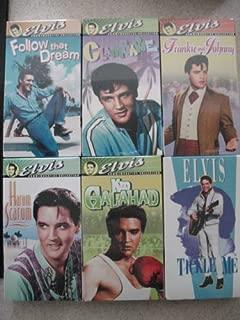 Lot 6 Elvis Presley NEW VHS Tickle Me, Clambake, Kid Galahad, Harum Scarum, Follow That Dream, Frankie and Johnny