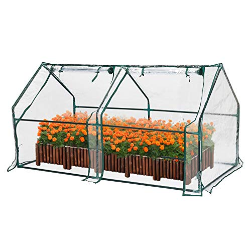 """Mini Greenhouse Portable Greenhouse for Raised Garden Bed, Indoor and Outdoor Gardens/Patios/Backyards 71""""×36""""×36"""""""